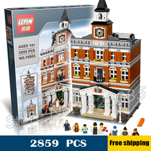 2859pcs 15003 New Creator Town Hall Bell tower DIY Model Building Blocks Bricks Education Toys Compatible with Lego