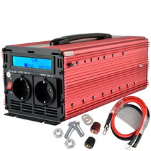 Enrise Lcd pure sine wave power inverter 24V 220V 1500W / 3000W peak 50Hz EU outlet power inverter for camping(China)