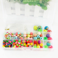Hot Sale 810pcs/lot Mixed Acrylic Beads with Box Best Organizer Storage Beads Box Plastic Jewelry Packaging Box DH-BDH040(China)