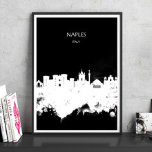 NAPLES Italy Watercolor City Series Abstract Art Print Poster Painting Home Decor Wall Picture Living Room Bar Cafe Pub 42x30cm