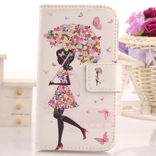 AIYINGE Lovely PU Leather Cell Phone Case Protective Skin Cover For Digma First XS350 2G