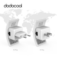 dodocool N300 Wifi Repeater 802.11b/g/n Network Wireless Range Extender Signal Booster 2.4GHz 300Mbps Dual Antennas AP Wps