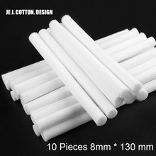 10 Pieces 8mm*130mm Humidifiers Filters Cotton Swab for USB Air Ultrasonic Humidifier Aroma Diffuser Replace Parts Can Be Cut