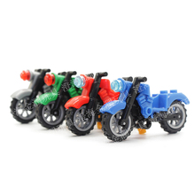 Motorcycle Playmobile Building Blocks Police Motorbike Bricks Kids Boys DIY Blocks Dolls Toys Gift Toys for Children