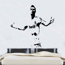 Ronaldo Football Player Wall Stickers For Kids Rooms CR7 Cool Removable Vinyl Art Mural For Boys Soccer Interior DIY DecorSYY434