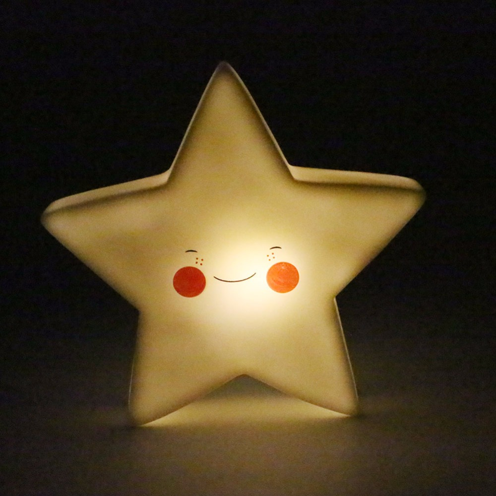 Portable Warm White LED Moon Star Sun Cute Night Light Lamp For Child Baby Bedside Bedroom Night Lighting With 3x LR44 Batteries