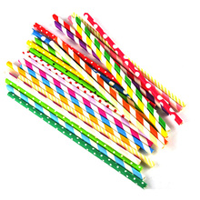25PCS/bag Colorful Birthday Wedding Decoration Festive Holiday Party Eco-friendly Color Drinking Straws Supplies Banquet Straw