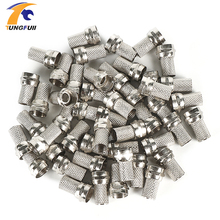 Drop shipping 100 Pcs Twist on RG6 F Type Coaxial Cable Connector Plugs Brass materials Singnal Line connector Copper Galvanized(China)