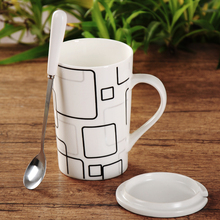 Handgrip Star Point Mug Eco-friendly High Quality Pottery Heat Resistance Coffee Milk Mugs Adult Pastoral Tea Cup With Spoon