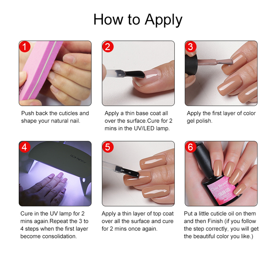 Detail Feedback Questions about Clou Beaute LED UV Gel Nail Polish ...