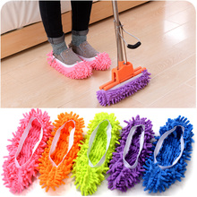 1 PCS Multifunctional Chenille Micro Fiber Shoe Cleaning Mop Slippers Dust Cleaner Grazing  House Bathroom Floor  Household Tool