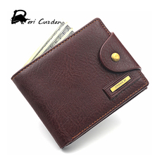DERI CUZDAN Famous European Leather Genuine Men Wallet Zipper Coin Pocket Short Vintage Men's Wallet Portfolio Male Clutch Purse
