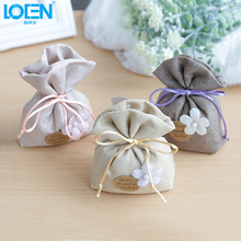 1PC Car Interior Accessories Dried flowers Aroma bags Fresh air China classical replace Linen sachet bag Home Wardrobe Drawer