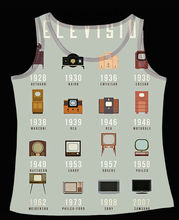Track Ship+Fresh Printed Vest Top Tank Camis The Evolution of Television TV Set in Family 0663