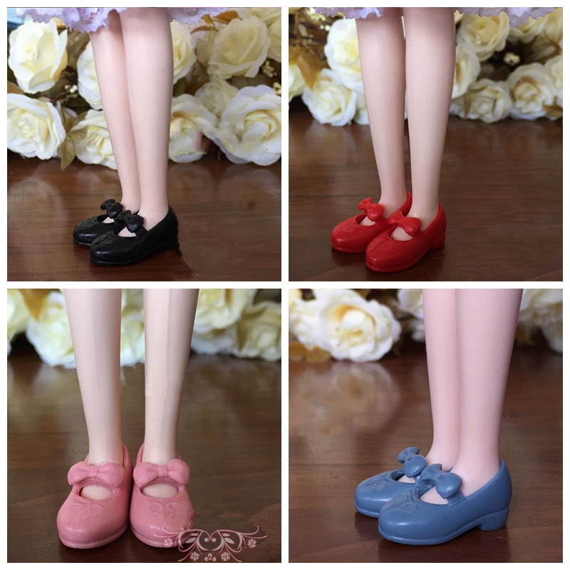 4Pair Mary Janes Shoes For Blythe Dolls 1:6 Pretty Bowknot Shoes For Licca Doll House Mini Shoes For 1/6 BJD Doll Accessories(China (Mainland))