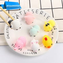 ALANGDUO Cute Squishy Phone Strap For iPhone 7 7 Plus Case 3D Cartoon Animal Cat Seal Sea Lion Toy Soft TPU Silicon phone strap