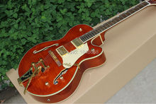 Wholesale custom guitar Gretsch G6136 winered Falcon semi-hollow Body center block Electric Guitar With Bigsby jazz guitar