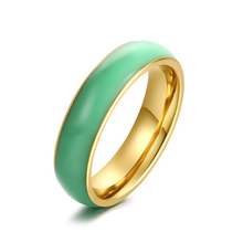 Vintage Elegant Thin Band Natural Jade Rings For Women Hot Sale Trendy Gold Color Charm Fashion Jewelry Szie7/8/9/10/11