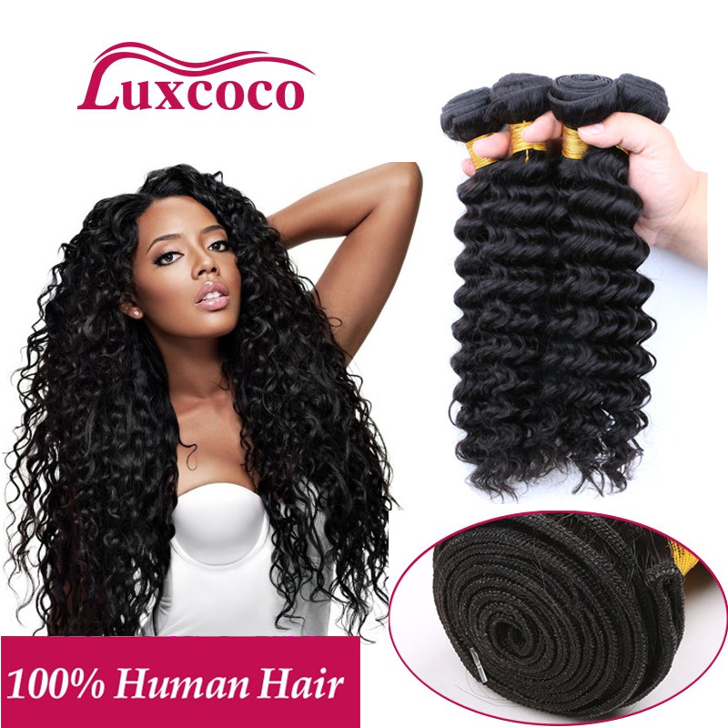 On Sale! 7A Brazilian Deep Wave Virgin Hair 100% Brazilian Human Hair Weave 4 Bundles Cheap Deep Wave Brazilian Hair DHL Free<br><br>Aliexpress