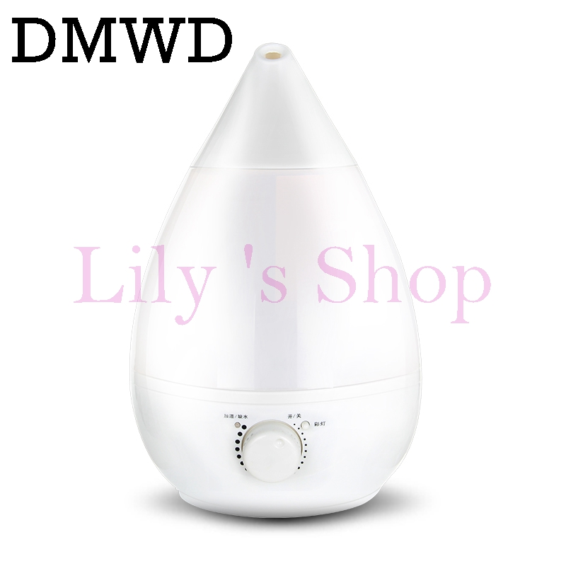DMWD Household electric Ultrasonic humidifier mute Fogger Mist Maker aromatherapy Essential Oil Diffuser air purifier Lamp 3L EU<br>