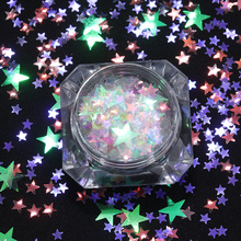 2g Heart Star Round Nail Flakies Glitter Sequins Colorful Nail Sparkle Paillette Manicure Nail Art Tips Decoration(China)