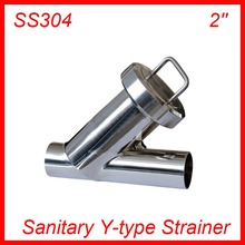 2'' Sanitary Stainless Steel SS304 Y type Filter Strainer f Beer/ dairy/ pharmaceutical/beverag /chemical industry(China)