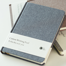2018 Hot Sale Simple Cute Style Cotton Cover Blank Notebook Journal Dairy Book Sketchbook For School Supplies Stationery Store(China)