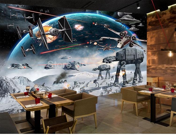 HTB1LfQQiPuhSKJjSspjq6Ai8VXae - Custom 3D Photo Wallpaper Cartoon Star Wars Children Room Bedroom Wall Painting Living Room Wall Mural Wallpaper For Kids Room
