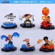 Wholesale cartoon toy model hand to do Q edition doll 6 Piece White Huzi Hai Hang Haiwang Ice Pirates