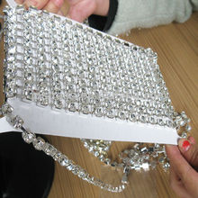 SS 10 crystal rhinestone trimming 10 yards each roll  for  women  hand bag  by China post air mail from shipping