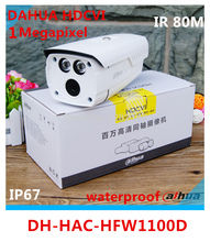 original Dahua HAC-HFW1100D 1.3 Megapixel HDCVI camera 720P  IR 80 meters IP67 waterproof gun cctv camera