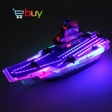 Light Music Universal Aircraft Carrier Model Military Naval Ship Electric Warship Battleships Fighter Children Kids Toys Gifts(China)