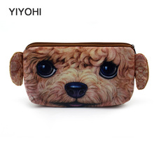 Women Girl 3D Print  Dogs Zipper Purse Keyring Bag Cute Cosmetic Bag Mini Bag Storage Bags Make Up Organizer