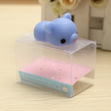 Brand New Mochi Blue Piggy Soft Squeeze Pig Cute Healing Toy Kawaii Cute Collection Stress Reliever Gift Decor Toys For Children