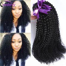 Peruvian Afro Kinky Curly Hair 4pcs lot Peruvian Hair Kinky Curl Weaves Bundles Peruvian Virgin Hair Afro Kinky Curly Human Hair