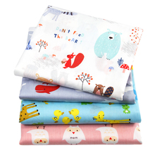 50*145cm animal owl whale bird printed 100 percent cotton fabric for Tissue Kids Bedding home textile for Sewing Tilda Doll,c727(China)