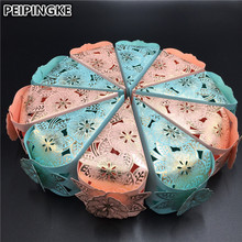 10pcs/lot Pink Blue Butterfly Wedding Candy Box Romantic Wedding Favor And Gift Box Baby Shower Birthday Wedding Decorations(China)