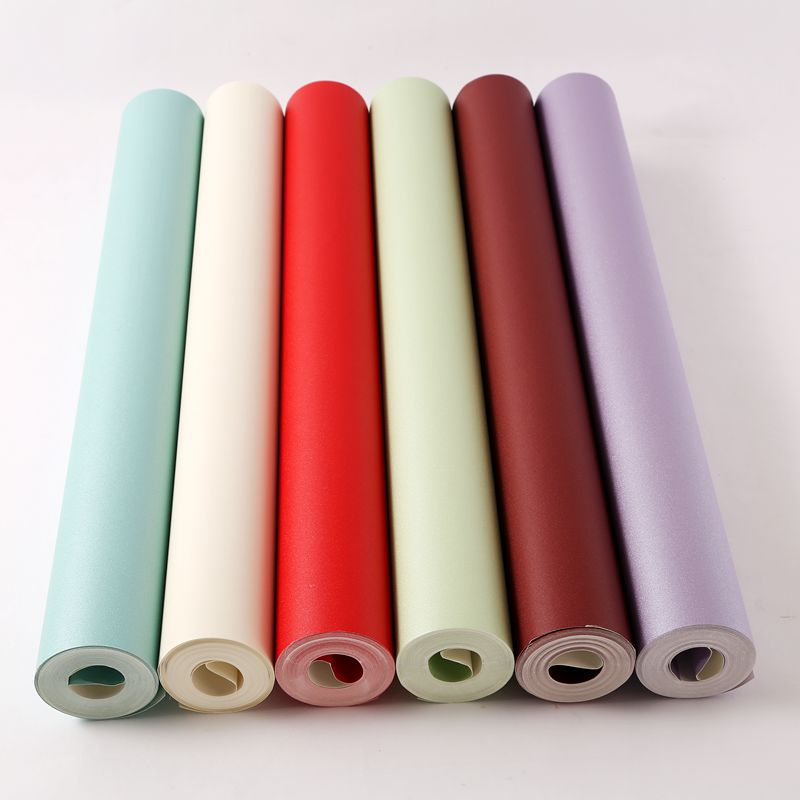 Modern Wallpapers Home Decor Solid Color Wallpaper Purple Red Waterproof Wall Paper Roll Decorative Living Room papel de pared<br>