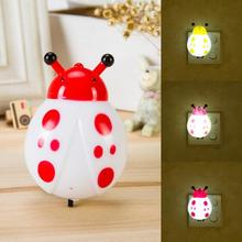 Ladybug LED Night Light Lamp Cute Pink White Nightlight Battery Novelty Light For home Decor Ornaments 80mm*50mm