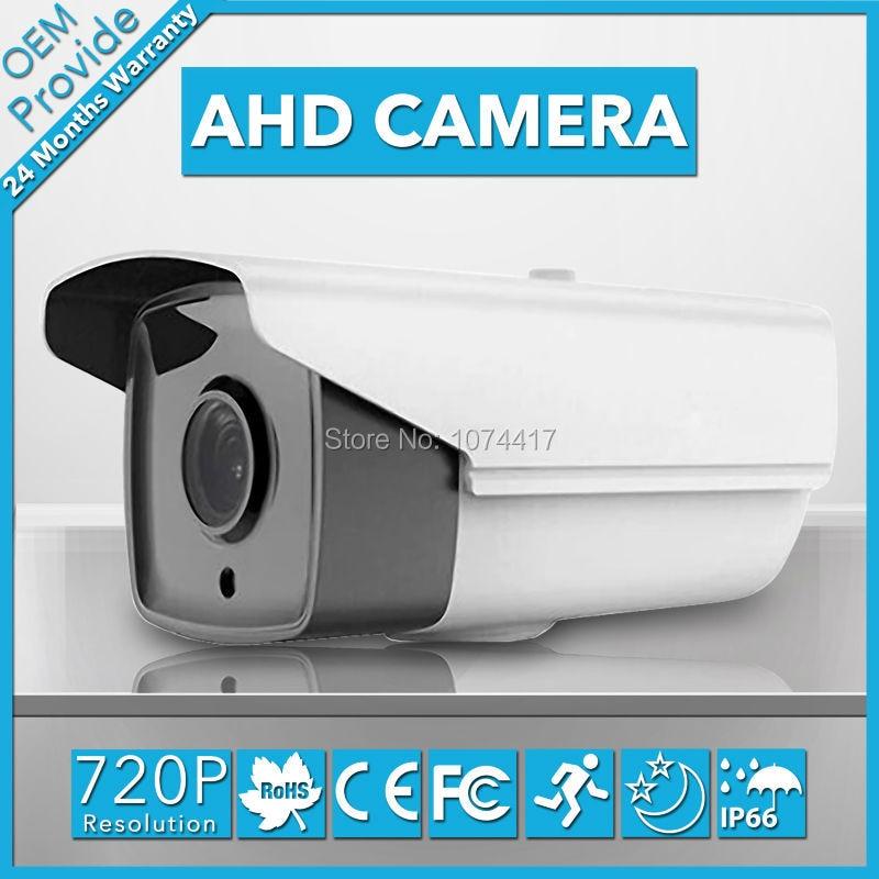 AHD2100H  1.0Megapixel 2000TVL 2 Big Led  Analog High Definition 720P AHD CCTV IP66 Bullet Camera  free Shipping<br>