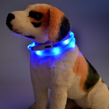 Pets LED Collar Rechargeable USB Band Belt Adjustable Flashing Safety Pet Dogs