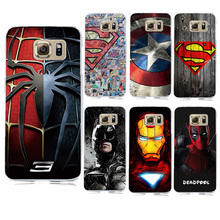 For Samsung Galaxy S7 Edge Accessories Spiderman Case PC Hard Slim Cover For Galaxy S6 S7 Batman Avengers Superman Phone Cases