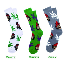 NEW 2016 Fashion USA Brand Cotton Weed Maple Socks Men comedy cheech&chong Style Skate Men's Sock Skate Board Sox