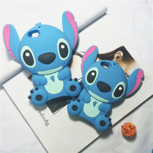 lovely mobile phone case for iPhone 6s plus cartoon case soft silicone 3d cute stitch shockproof cover for iPhone 6 5S 5 SE