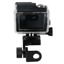 Buy Aluminum Motorcycle Rearview Mirror Mount Bracket Holder GoPro Hero 5 4 3 3+ Xiaomi yi 4k SJ4000 Car License Plate Mount for $14.67 in AliExpress store