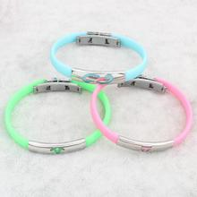 2017 New Fashion Trendy Silicone Rubber Wristband Flexible Wrist Band Cuff Bracelet Bangles Gifts