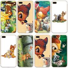 H040 Bambi And Thumper Transparent Hard Thin Case Cover For Apple iPhone 4 4S 5 5S SE 5C 6 6S 7 Plus