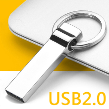 100% H2testw Test Real Capacity Metal Silver Usb Flash Drive 2.0 Pen Drive 64GB 32GB 16GB Memory Stick 1TB 2TB Key Chain Gift
