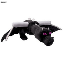 HOT 60CM Big Minecraft Ender Dragon Plush Minecraft Game Enderdragon Soft PP Cotton High Quality Minecraft Plush Toys Kids Gift(China)