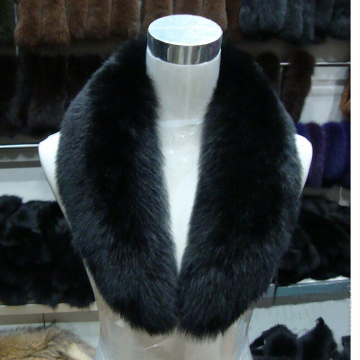 NBS018 2014 Long Fox Fur Collar for jacket Natural fox furScarf Women Free Shipping